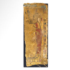 Egyptian Cartonnage Fragment with Isis, 18.6 cm.