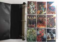Lady Death, Dawn, Marvel, Spider-Man, Prince Valiant - 6 complete sets trading cards in collector binder + limited cards + Chase cards + rares - (1990 / 1998)