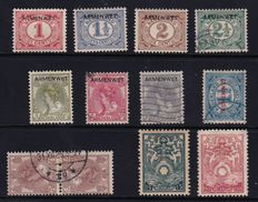 The Netherlands 1913/1924 – Selection of Poverty Law, Tête-bêche, postage and safe stamps