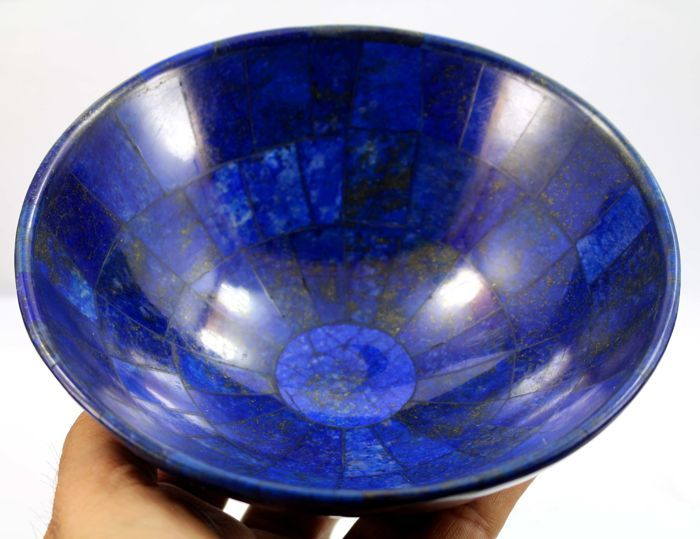 hand crafted royal blue lapis lazuli bowl 146 x 70mm 406gm catawiki. Black Bedroom Furniture Sets. Home Design Ideas