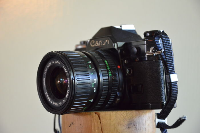 Nice Lot With Two Versions Of The Canon Ae 1 Introduced In 1976 The