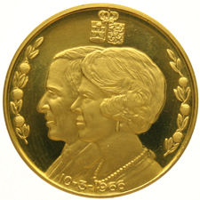 The Netherlands – Medal 'Royal Family – Marriage of Beatrix & Claus 1966' – gold