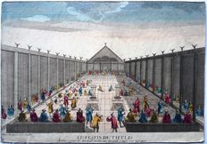 Unknown artist (18th century) - Optical engraving with Large Diner in Caire Turkey - 18th century