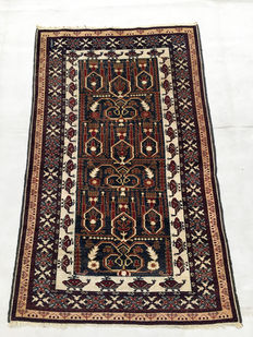 Charmant Tapis de village fait main: Beloutch 136x83 cm vers 1980 !!