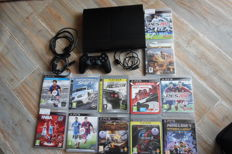 PlayStation 3 Slim  -500gb  Incl  1controller and 12 games