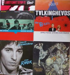 Set of 10 magic 1980 albums; Bruce Springsteen, Talking Heads, B-52's, Simple Minds, Kate Bush, The Beat, Dire Straits, The Police, John Lennon/Yoko Ono and Dexys Midnight Runners