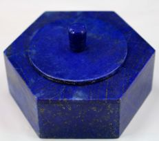 Hand-crafted, fine Royal Blue Lapis Lazuli - Jewellery box  - 54 x 85 mm - 330gm