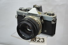 beautiful Olympus OM-2n camera with 1.8 50 mm lens