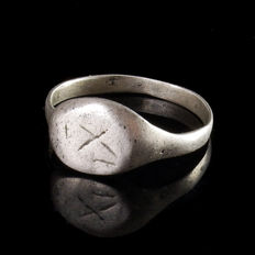 Roman silver Legionary ring - 21,4 mm