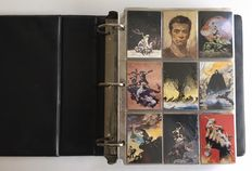 Frazetta, Kelly, Parkinson, Achilleos - 1 Collector binder + 5 complete sets trading cards + some limited cards + 31 double - (1991 / 1994)
