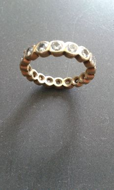 18 kt yellow gold eternity ring with brilliants, approx. 2.00 ct in total - size 55