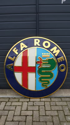 Alfa Romeo - advertising sign - dealer sign / car dealer - diameter 125 cm