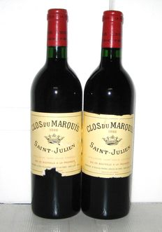 1986 Clos du Marquis, 2° Vin du Château Léoville Las Cases, Saint-Julien – lot 2 bottle