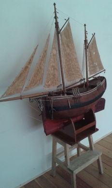 Antique wooden French sailing ship