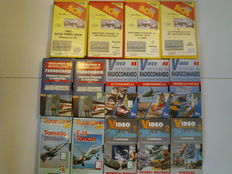 Lot with 14 VHS videotapes, including 4 about championships + 3 about radio controls + 3 about models + 2 encyclopedias of railways + 2 videos of planes. The videotapes are all in Italian.