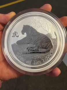 "Australia - 30 dollars 2010 ""Lunar II year of Tiger"" - 1 kg silver coin"