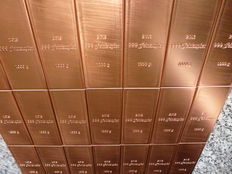 "10 x 1 kg 999 copper bars ""Red Gold"" - 999 fine copper bars - 10 kg"