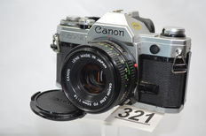 Canon AT-1  camera met 1.8 50mm objectief