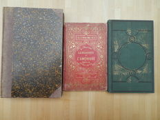 Lot of 3 books on the discovery of America - 1880