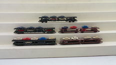 Fleischmann/Minitrix N - 8284/13617 - 5 Automobile Transport wagons with cars from the DB