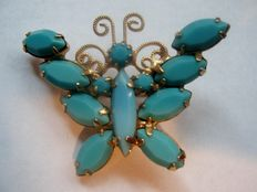 Hobé vintage butterfly brooch New York 1955-1960