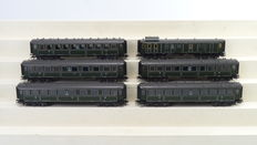 Trix H0 - 23232/29001/29002/29003/29004 - 6 piece set with Bavarian express train carriages of the K.Bay.Sts.B