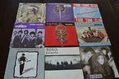 "Lot of 81  7"" pop-rock hits of the 70's and 80's in EX condition"
