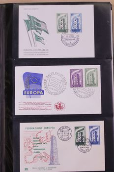 Europa Stamps 1956/1991 – batch of FDC's in Importa album and 2 folders.