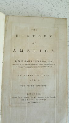William Robertson, D.D.- The History Of America- Vol. II - 1788