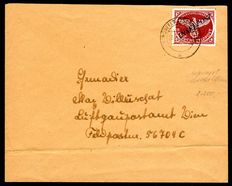 """Field post 1944 - field post approval mark with overprint island post, so-called Agramer overprint"""", Michel 10a B"""