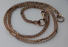 Gold necklace in 18 kt – Length: 42 ct – No reserve price