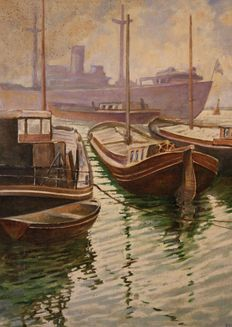 Unknown (20th century) - Harbour view