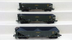 Trix H0 - 23500 - Set with 3 coal carriages of the K.Bay.Sts.B