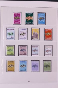 Europa Stamps 1972/1977 – Complete collection CEPT in Lindner Falzlos t-type preprint album.