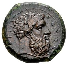 Ancient Greek - Sicily, Syracuse. AE Hemidrachma (24 mm, 14.10 grams) Time before Timoleon 367-344 BC.