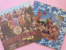 It Was 50 Years Ago Today...; First press complete, The Beatles Sgt Pepper's Lonely Hearts Club Band (Parlophone, PMC 7027, UK, mono, 1967) plus The Rolling Stones Their Satanic Majesties Request (3D cover, Decca TXS.103, UK stereo, 1967)