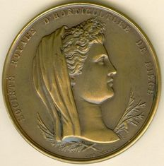 "Belgium - Medal 1861 ""Horticultural Society of Liege"" by Leopold Wiener"