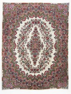 Persian carpet, rare, royal Kerman Lavar, 316 x 242 cm