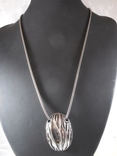 925 silver  necklace with pendant, Length 56 cm