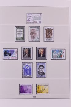 Europa Stamps 1985/1988 – Complete collection CEPT in Lindner Falzlos T-type preprint album.