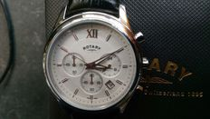 Rotary - Chronograph display - Brown leather strap - Men's watch - Brand new, unworn.
