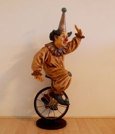 Vintage clown on bicycle - Jun Asilo Collection