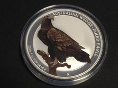 Australia - $1 - Wedge-Tailed Eagle - 1 oz 999 Silver / Silver Coin - Coloured Edition