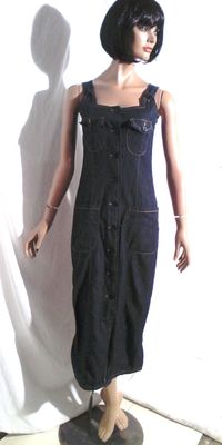Yves Saint Laurent - long dress in raw denim.