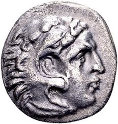Ancient Greece - Alexander the Great (336-323 B.C.), Silver Drachma, posthumously struck in Abydos (310-297 B.C.)