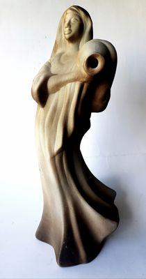 Large sculpture - 'Woman with Jug', signed