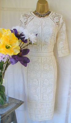 "Gorgeous New Lace ""Elvie Ivory"" Dress by Monsoon"