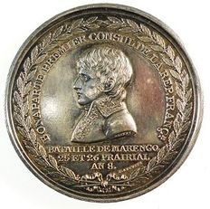 France - Medal 'Battle of Marengo' 1800 by Nicolas Guy Antoine & Bertrand Andrieu - Silver