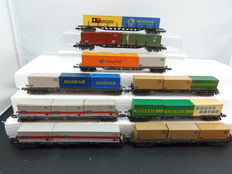 Roco/Rivarossi and others N - Ten container wagons with containers of the DB