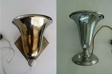 2 Art Deco lamps (wall and table)